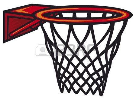 Basketball hoop clipart sideways.