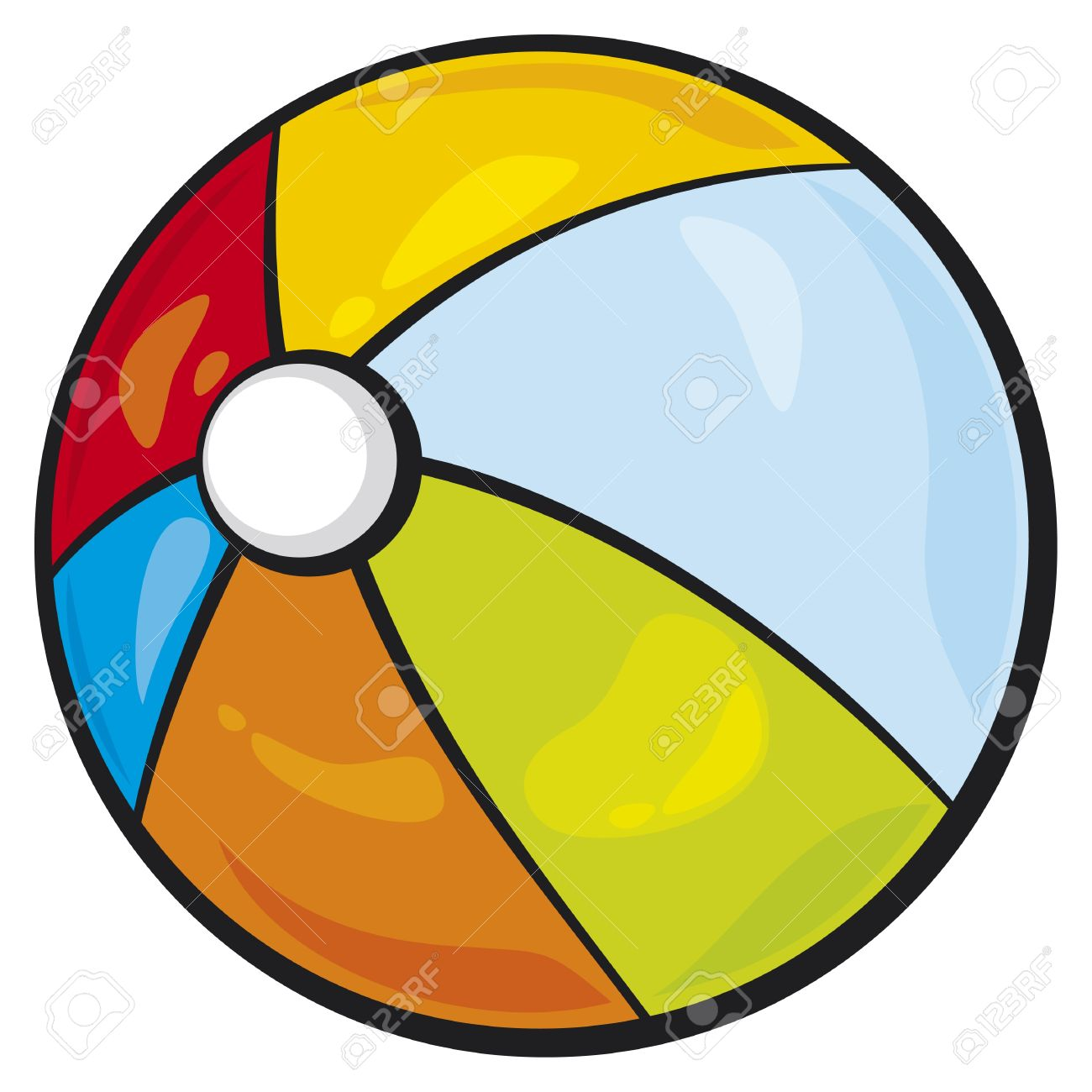Beach ball clip art bouncy ball.