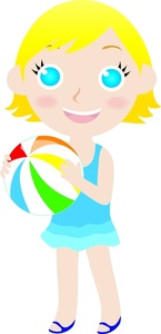 Beach ball clip art cute.