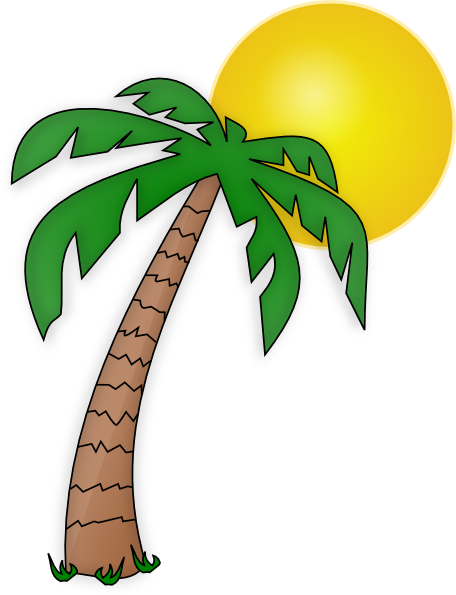 palm trees clipart translucent