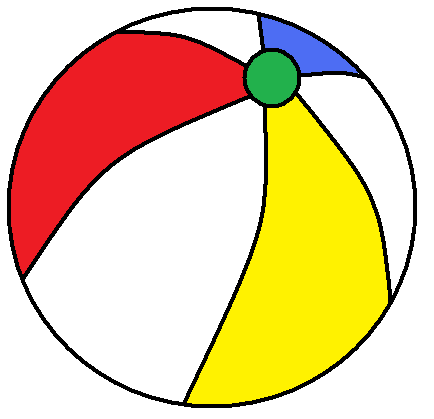 Beach ball clip art vector.