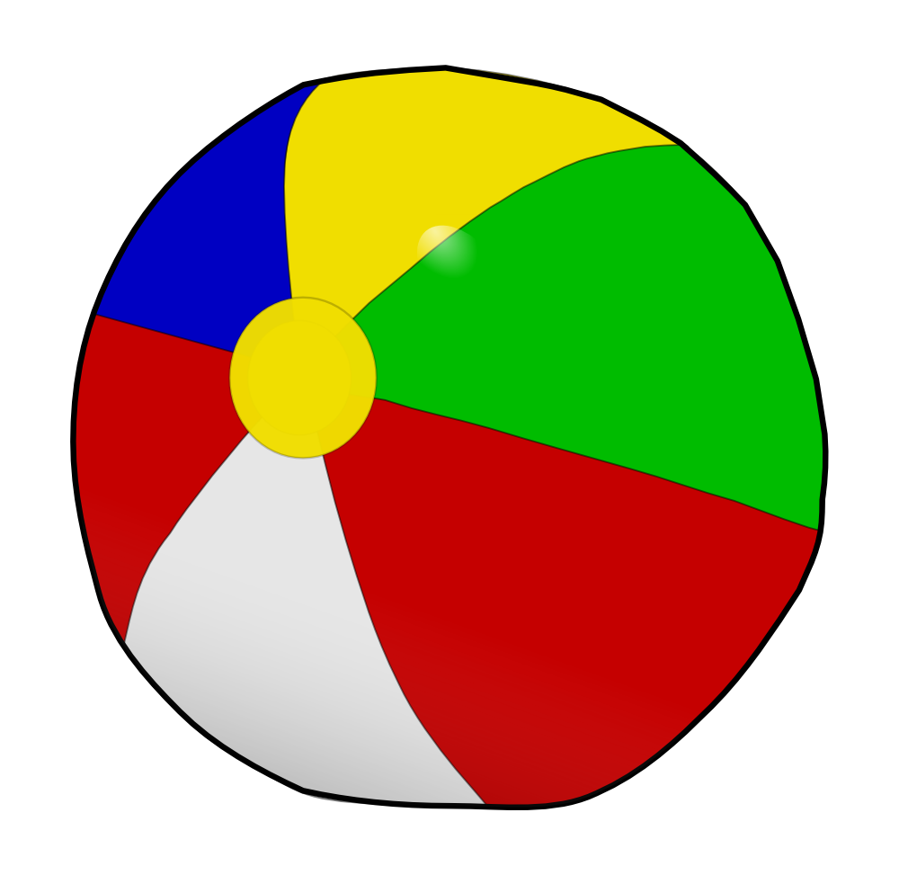 Beach ball clip art simple.