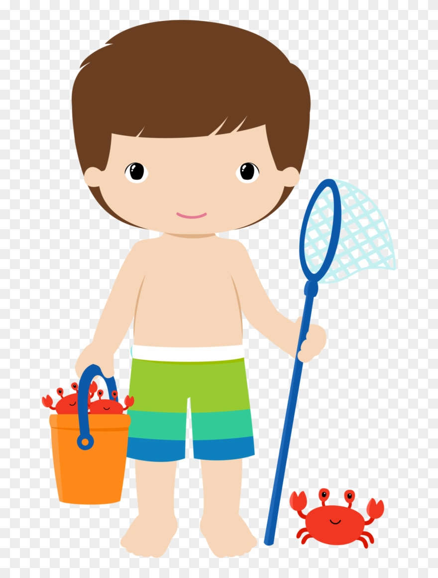 Beach clipart boy.
