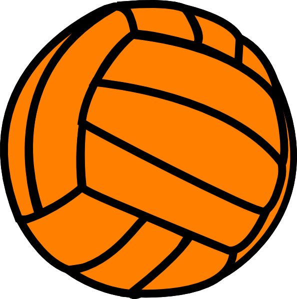 volleyball clipart colorful