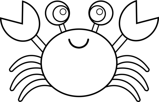 crab clipart outline