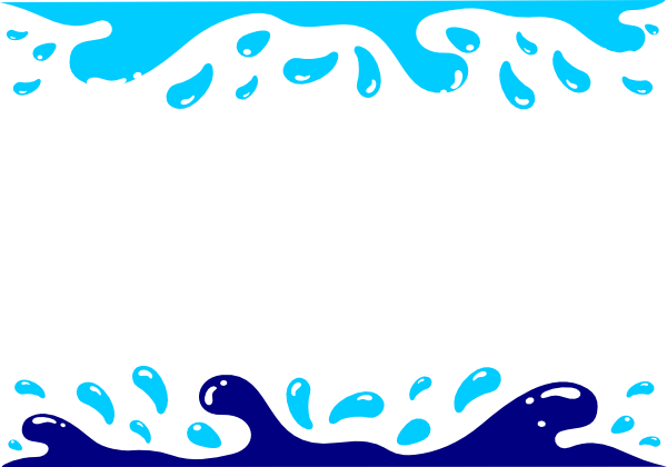 Water clipart borders.
