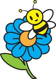 Clipart spring bee.