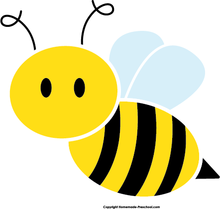 Bee clipart circle.
