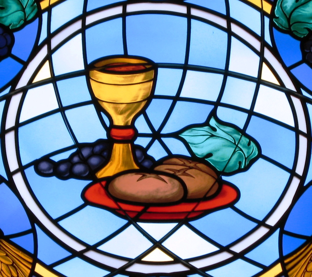 communion clipart stained glass