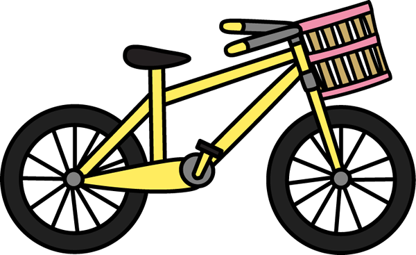 Bicycle clipart basket clip art.