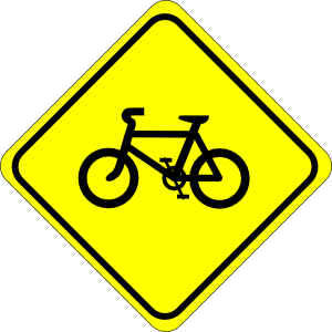 Bicycle clipart bicycle sign.