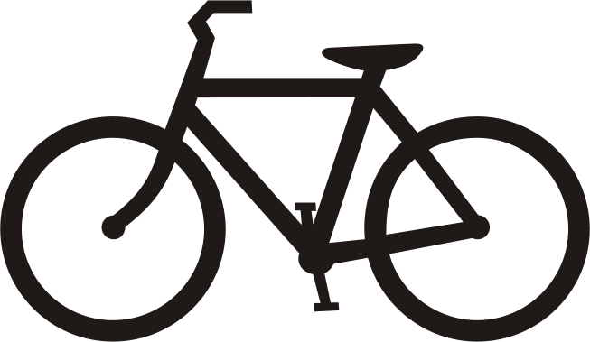 Bicycle clipart vector.