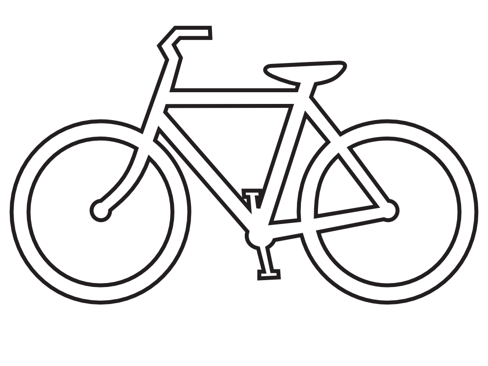 Bicycle clipart cruiser bike.