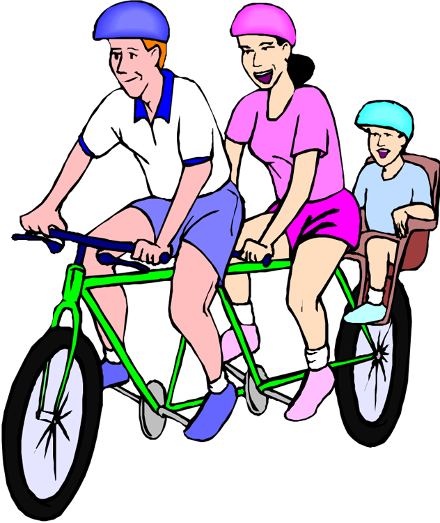 Bicycle clipart family.