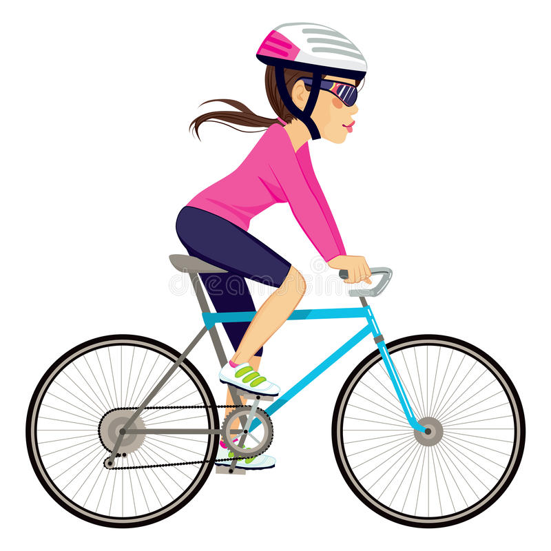 Bicycle clipart female cyclist.