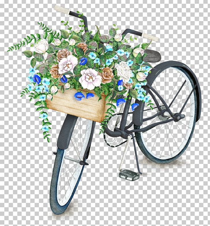 Bicycle clipart flower.