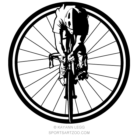 Bicycle clipart front.