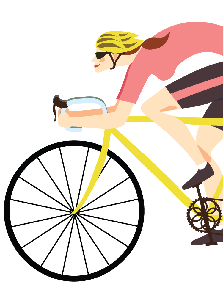 Bicycle clipart group cycling.