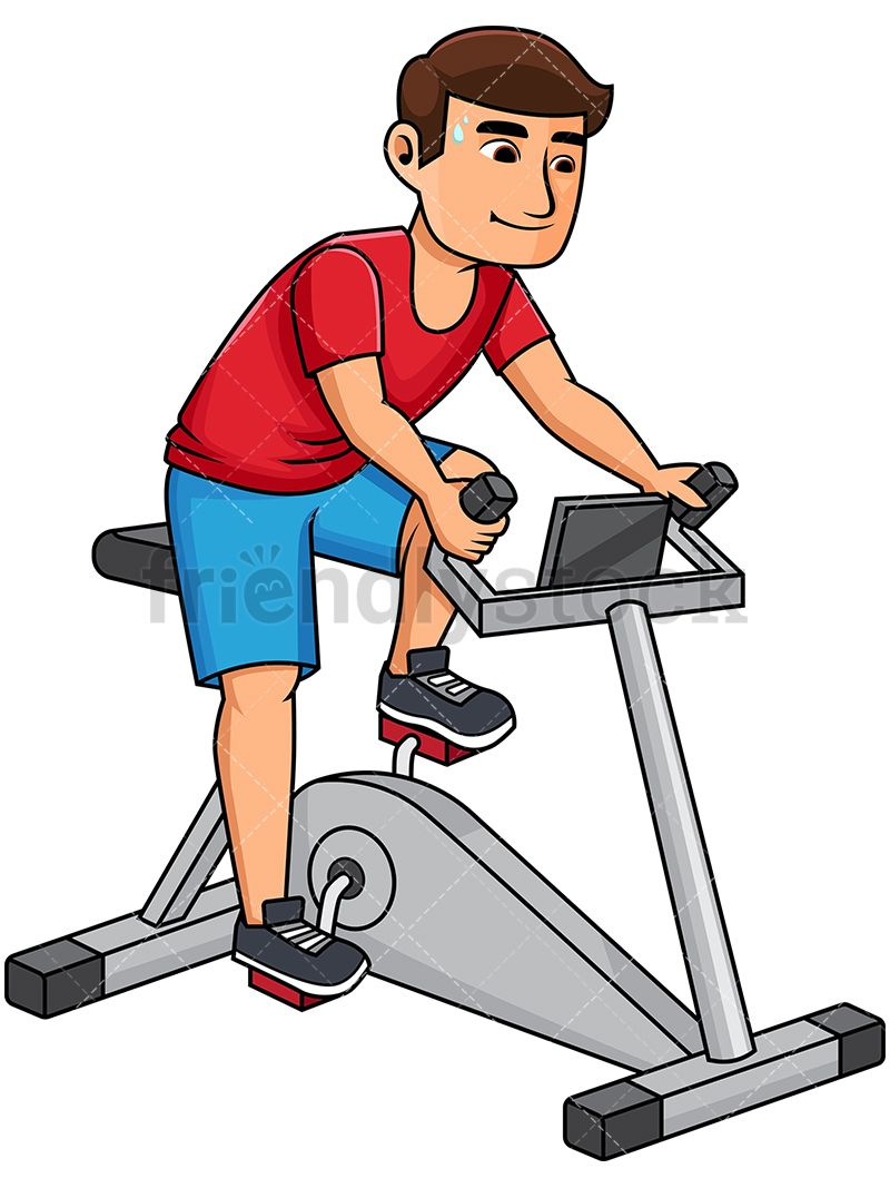 Bicycle clipart gym bike.