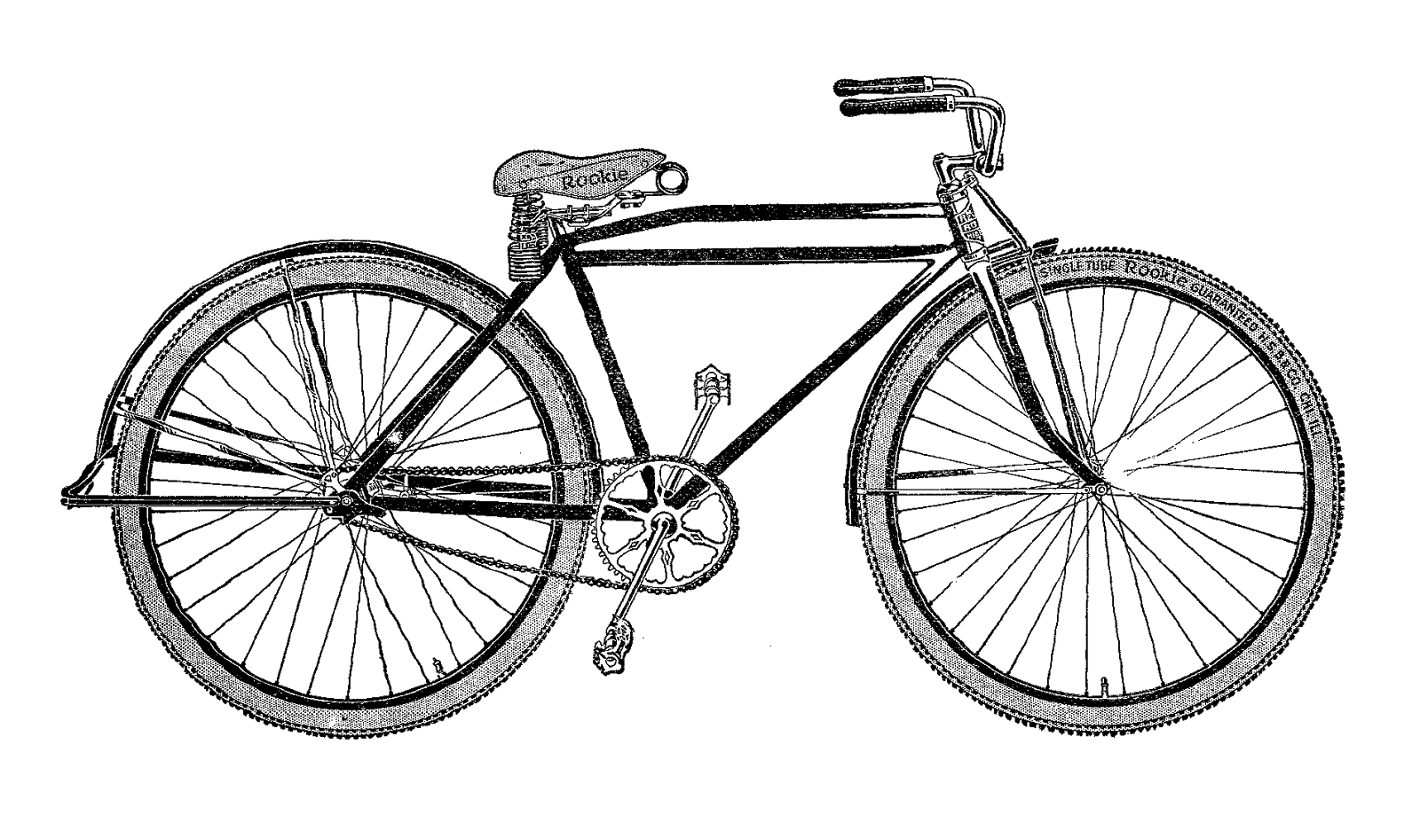 Bicycle clipart illustrated.