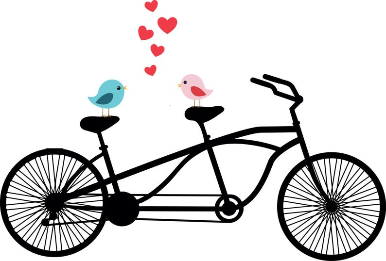 Bicycle clipart love.