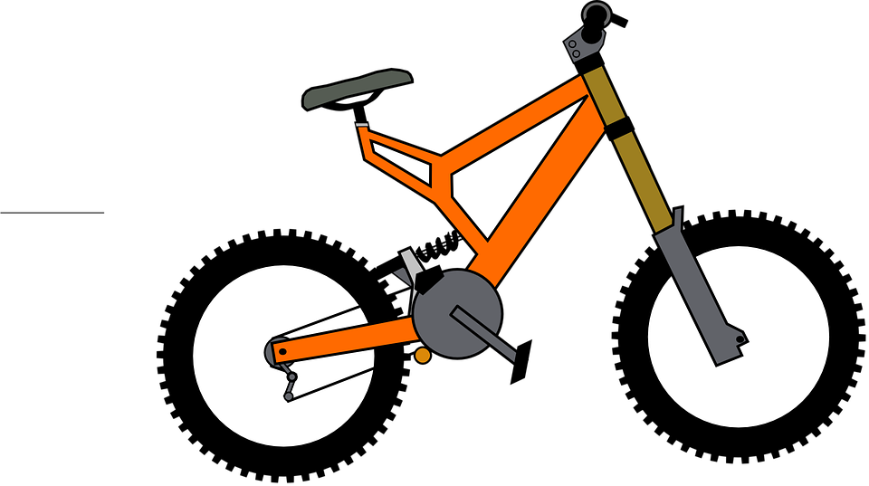 Bicycle clipart mountain bike.