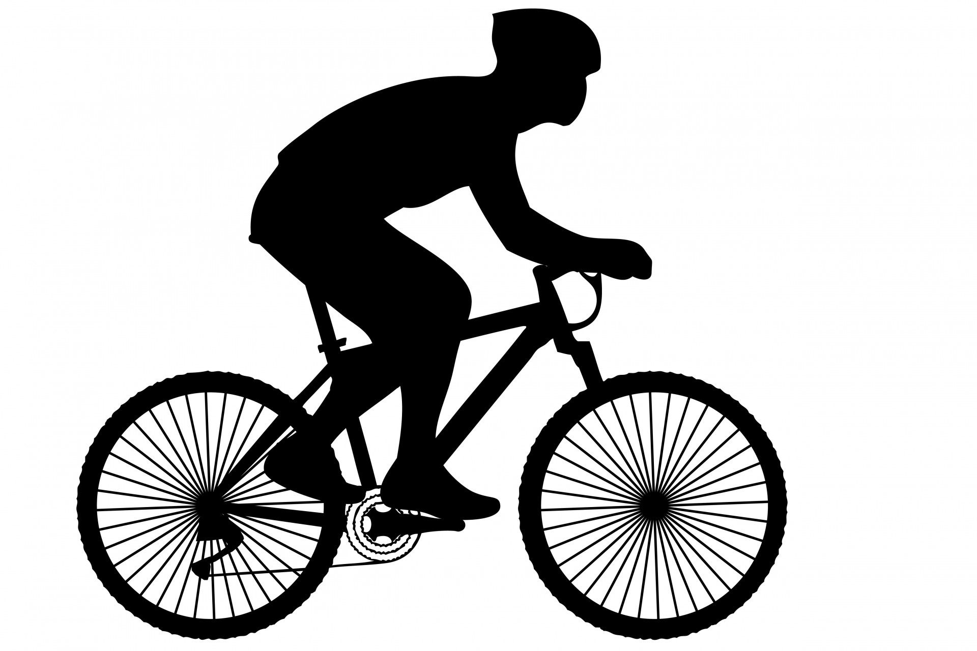 Bicycle clipart silhouette.