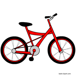 Bicycle clipart red bike.