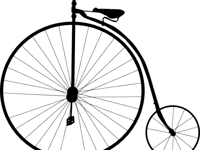 Bicycle clipart simple.