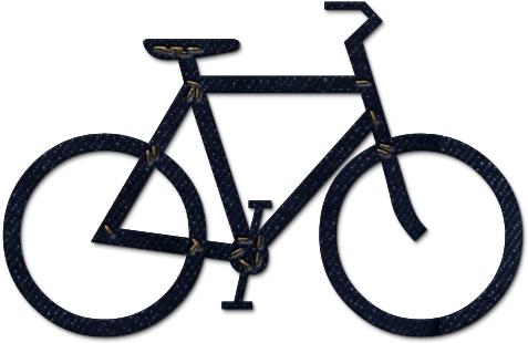 Bicycle clipart simple bike.