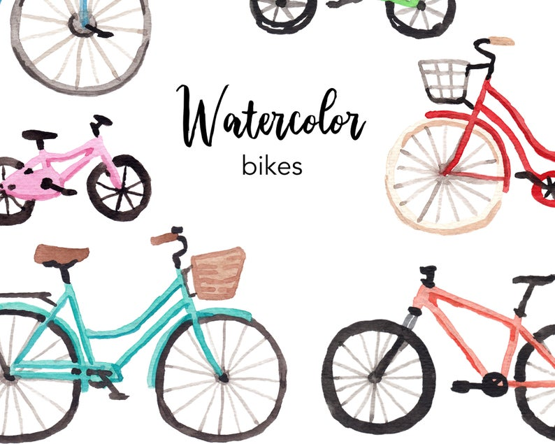 Bicycle clipart summer.