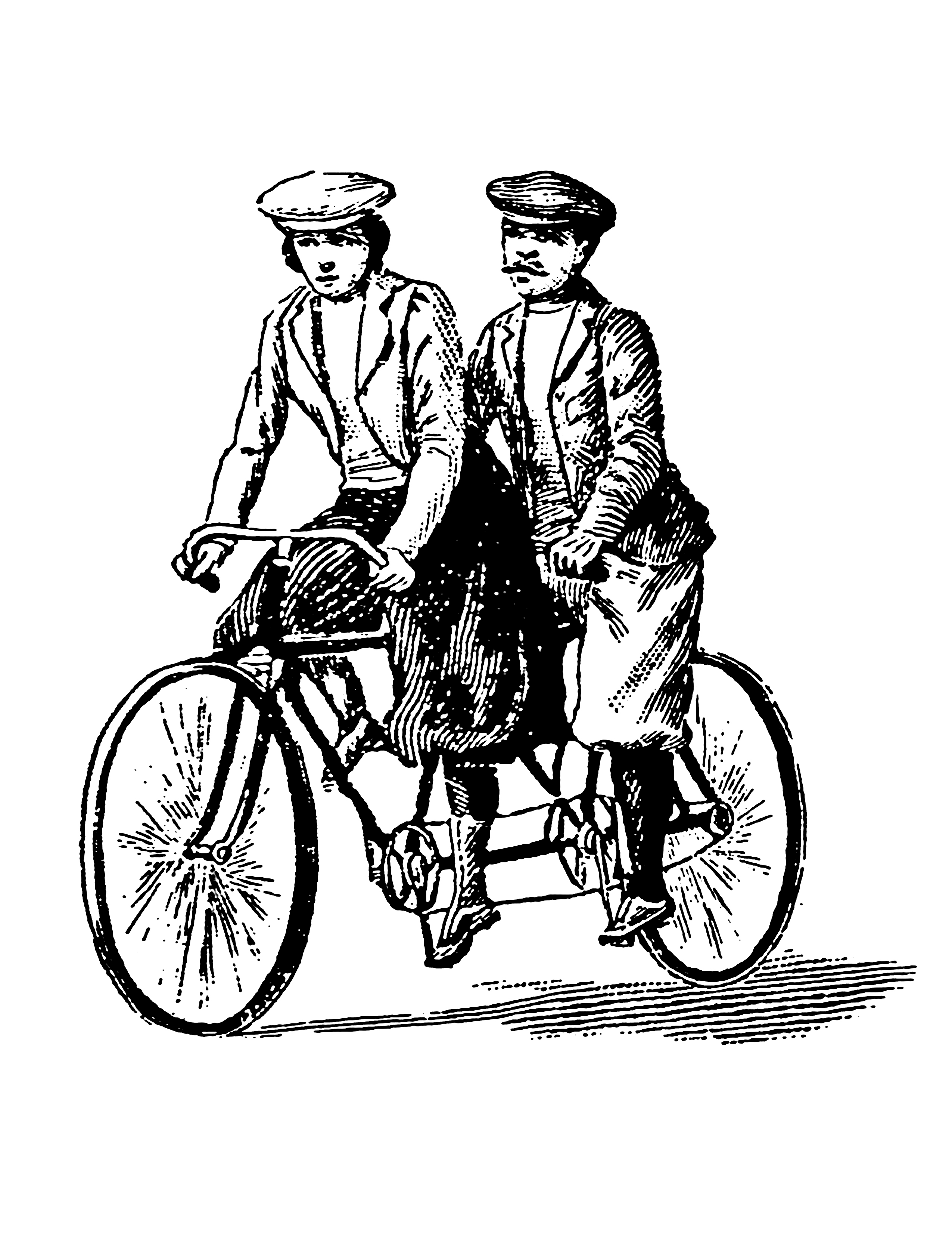 Bicycle clipart victorian.