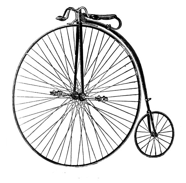Bicycle clipart old fashioned.