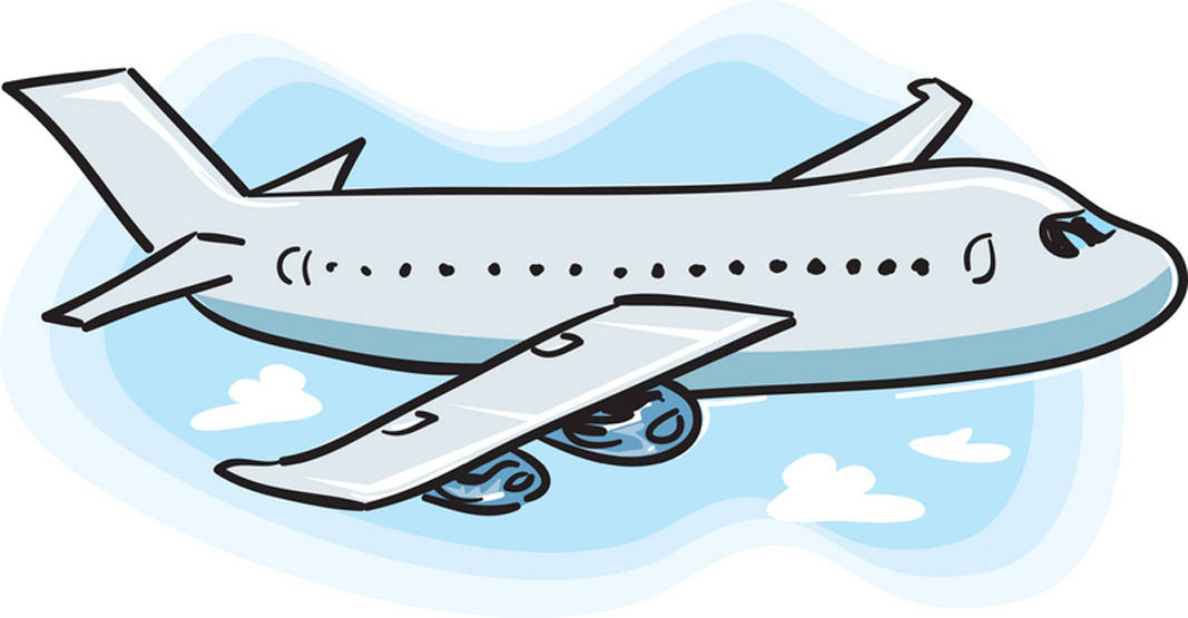 clipart airplane travel
