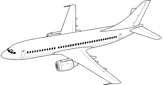 clipart airplane outline