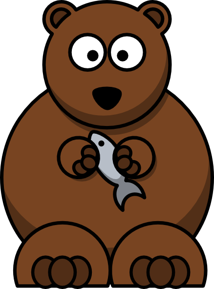 black bear clipart animated