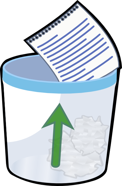 trash can clipart paper in
