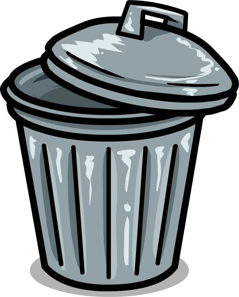 trash can clipart vector