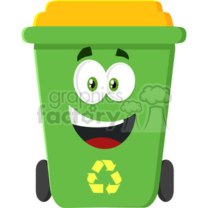 trash can clipart happy