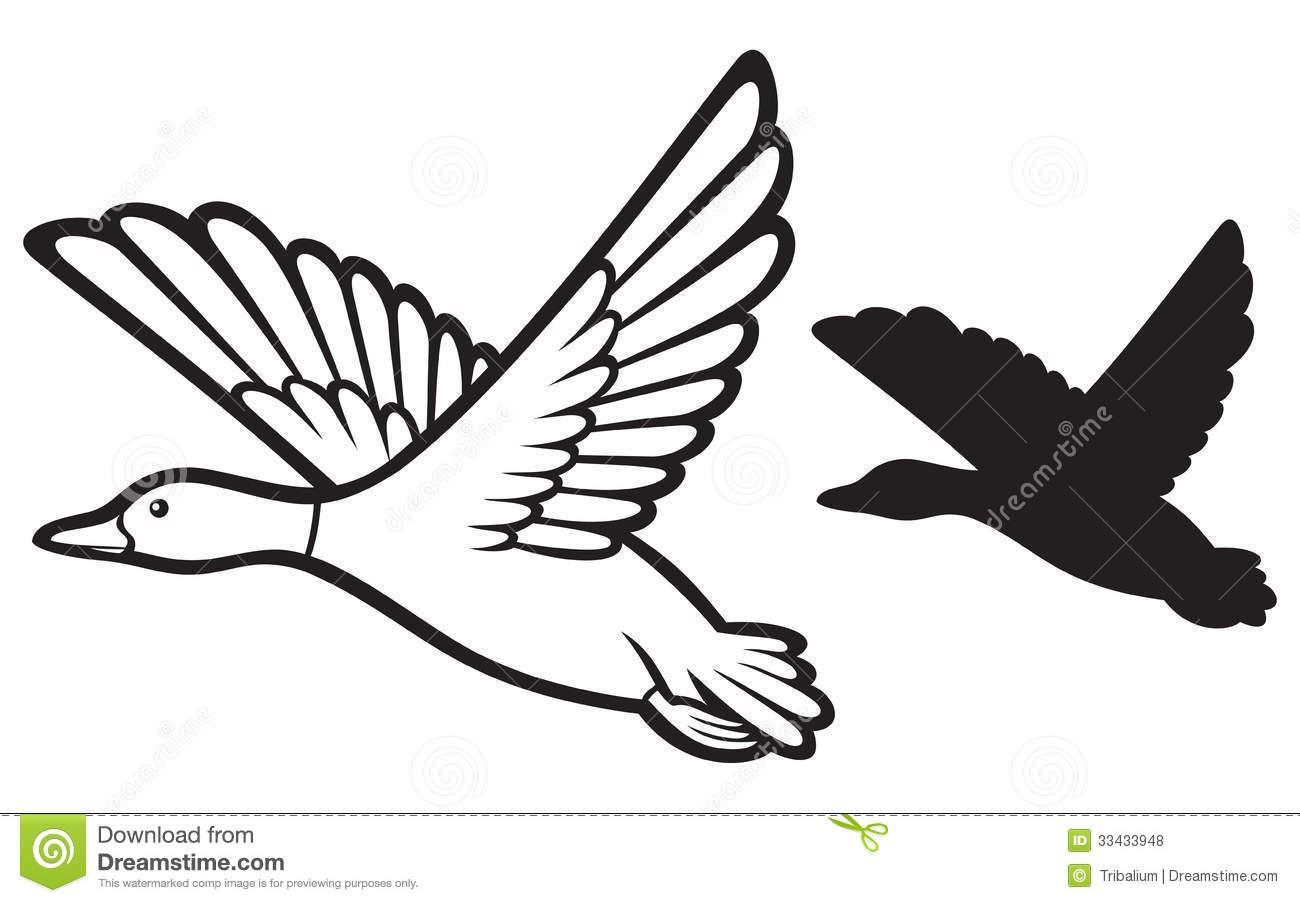 duck clipart flying