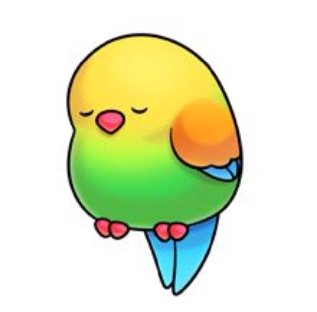 Bird clipart kawaii.