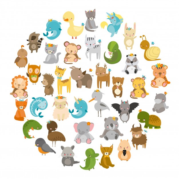 Zoo clipart group zooanimals drawing.