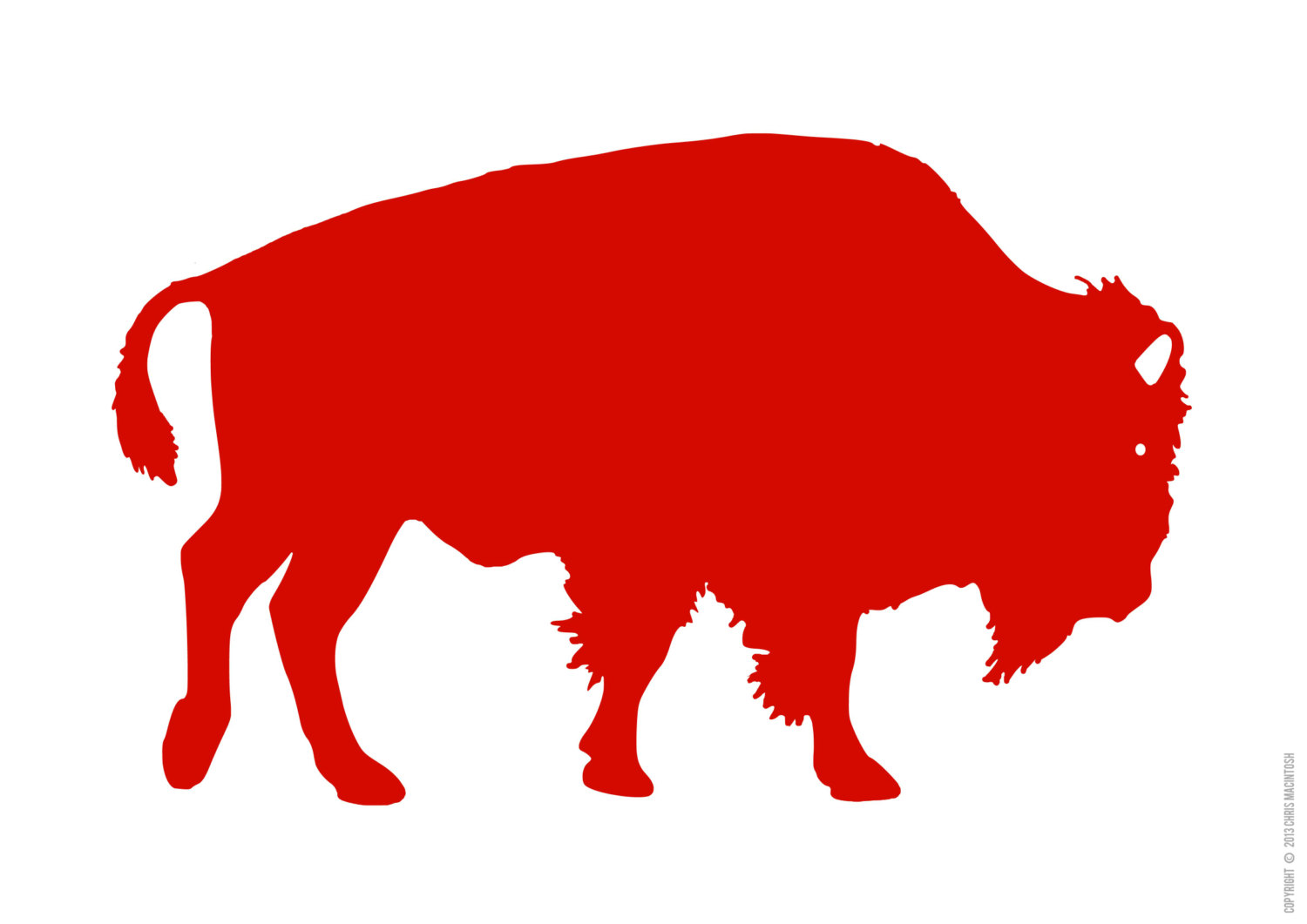 Bison clipart buffalo silhouette.
