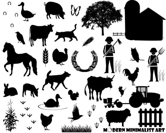 Black clipart animal.