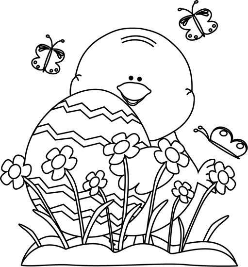 easter black and white clipart