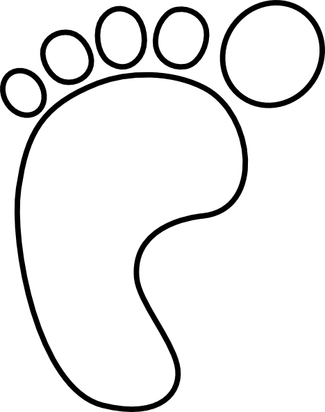 foot clipart black and white
