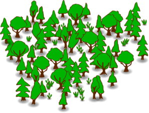 Black clipart forest.