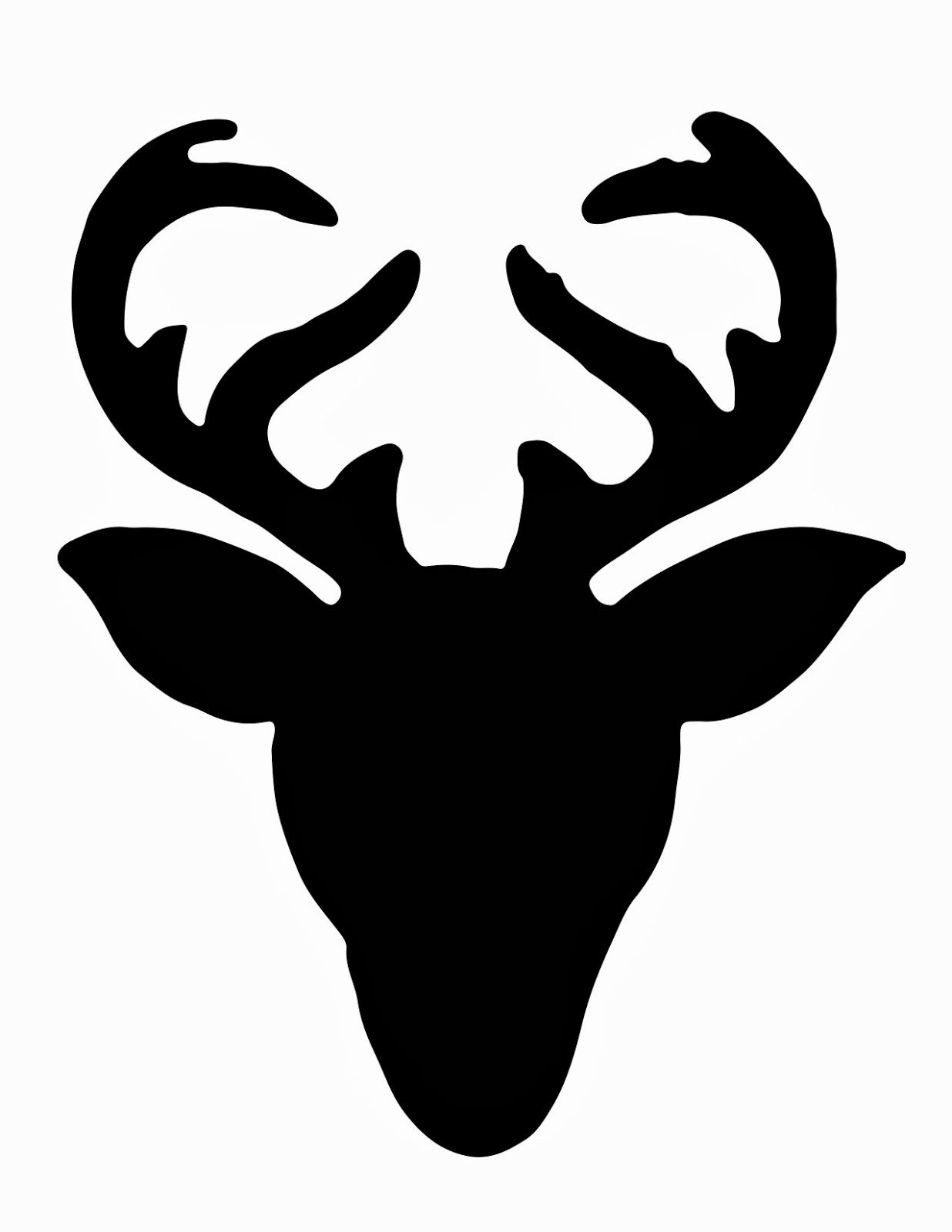 deer head clipart outline