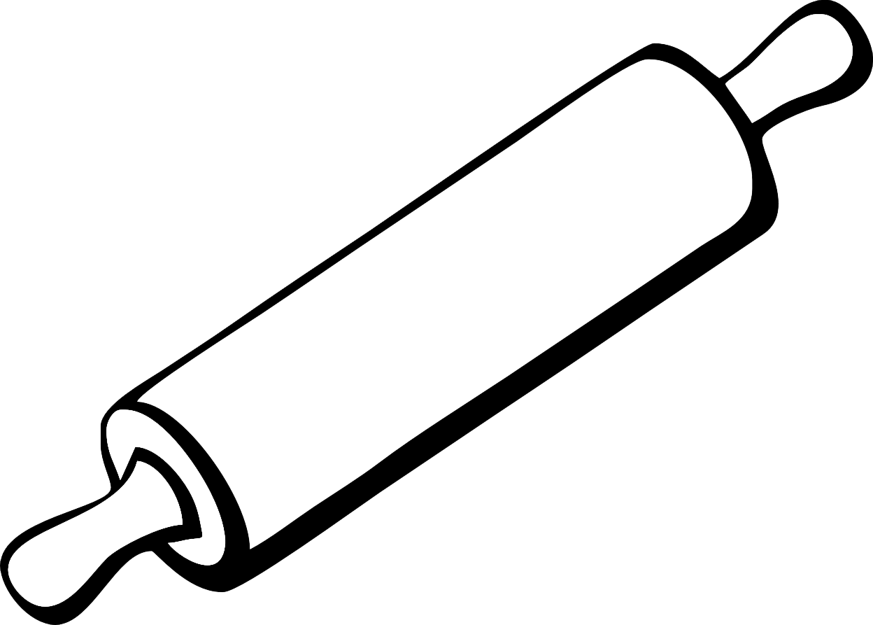 Black clipart rolling pin.