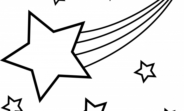 Black clipart shooting star.